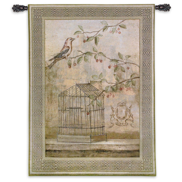 Oiseav Cage Cerise I Tapestry Wall Hanging