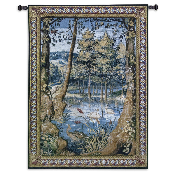 Verdure with Animals Tapestry Wall Hanging