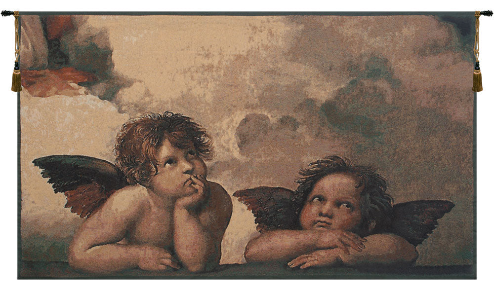 Angels by Raffael Belgian Tapestry Wall Hanging