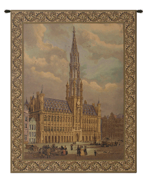 Town Hall Brussels Belgian Tapestry Wall Hanging