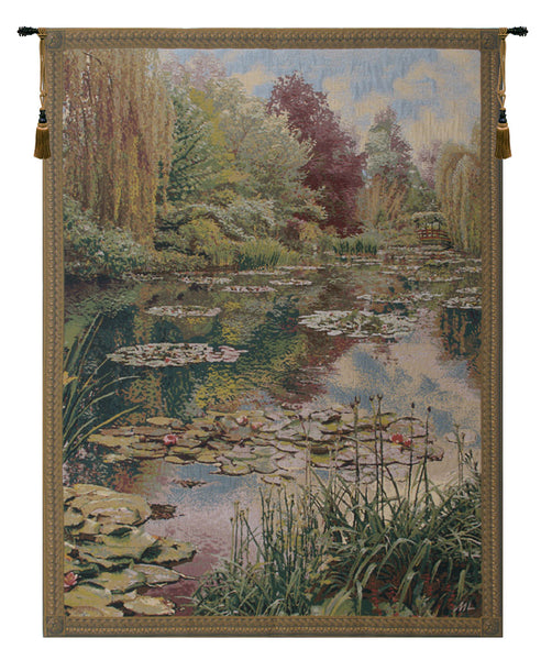 Monet Vertical Belgian Tapestry Wall Hanging