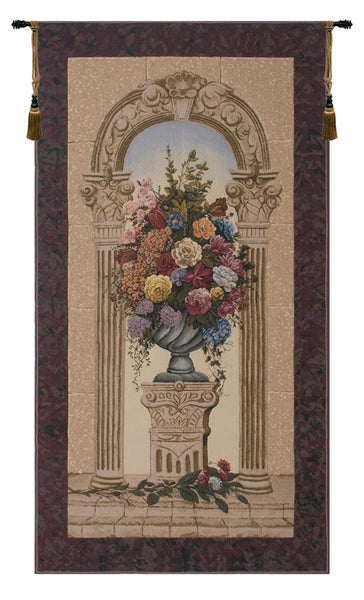 Floral Arch Belgian Tapestry Wall Hanging