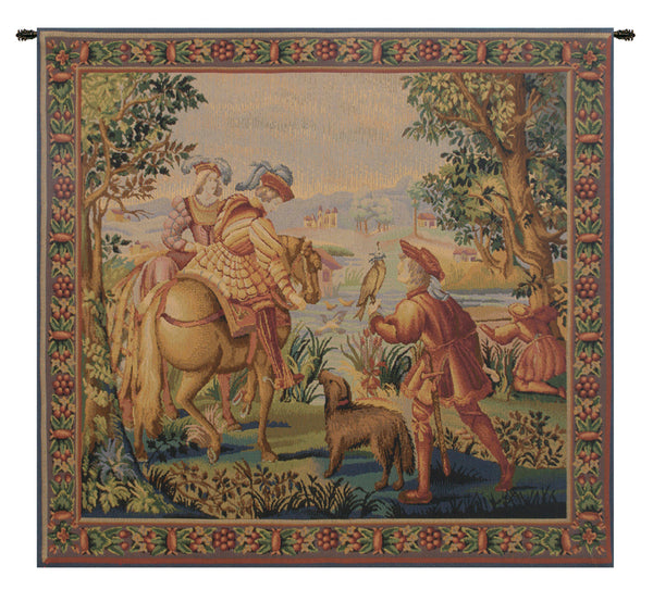 Falcon Belgian Tapestry Wall Hanging