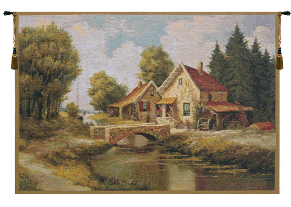 Flemish Bridge Belgian Tapestry Wall Hanging