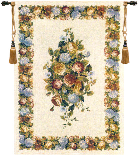 Floral Motif Tapestry Wall Hanging