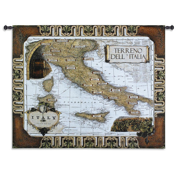 Italian Wine Country Tapestry Wall Hanging