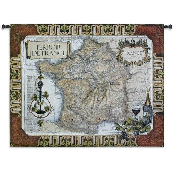 French Wine Country Tapestry Wall Hanging