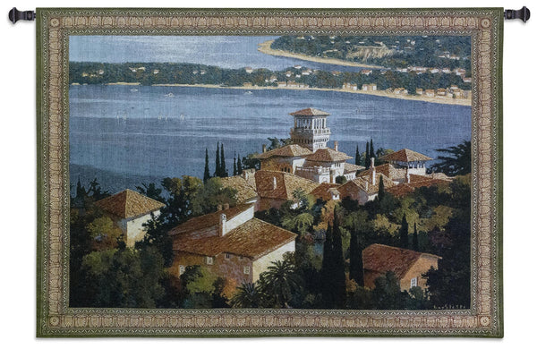 Garden on the Cote d Azure Tapestry Wall Hanging