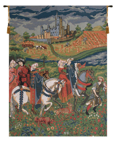 The Falcon Hunt Duke of Berry European Wallhanging