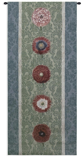 Floating Botanicals Green Bay Tapestry Wall Hanging