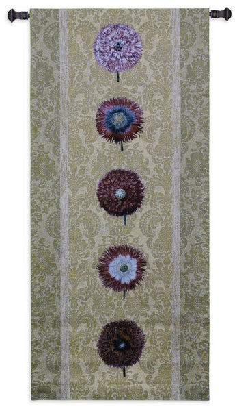Floating Botanicals Butter Tapestry Wall Hanging