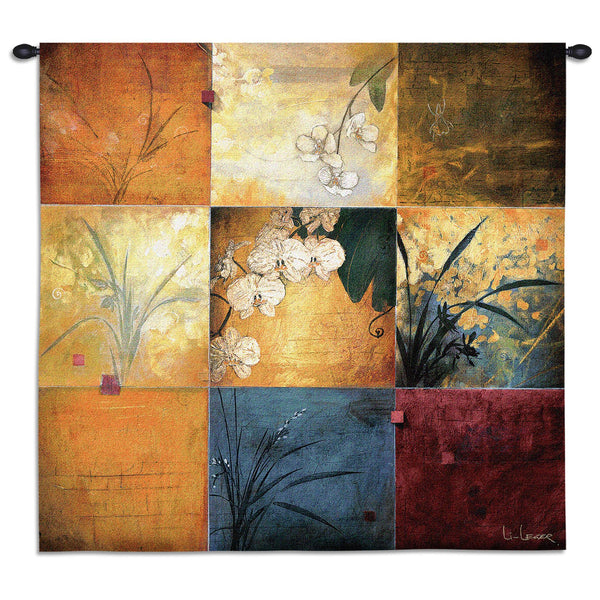 Orchid Nine Patch Tapestry Wall Hanging