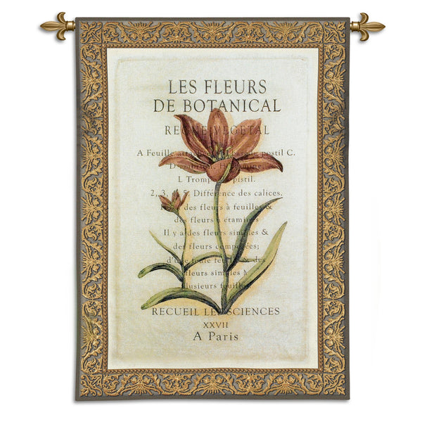 Les Fleurs II Tapestry Wall Hanging