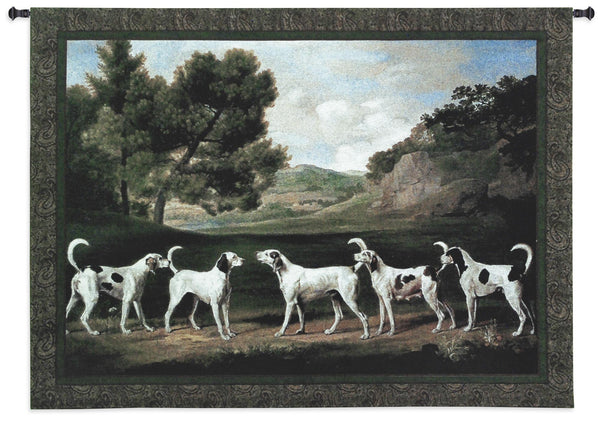 Foxhounds in a Landscape Tapestry Wall Hanging