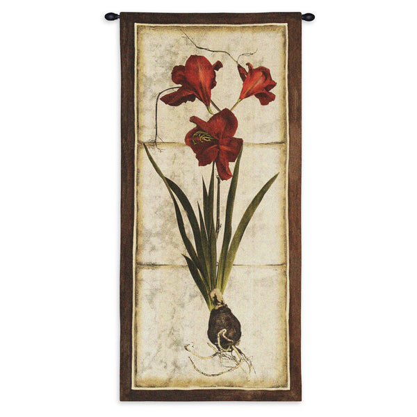 Red Tulip Study II Tapestry Wall Hanging