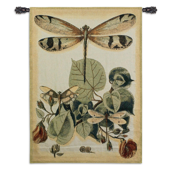 Light Whimsical Dragonfly II Tapestry Wall Hanging