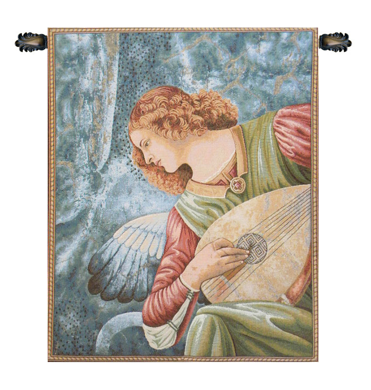 Ange au Luth Angel Italian Tapestry Wallhanging