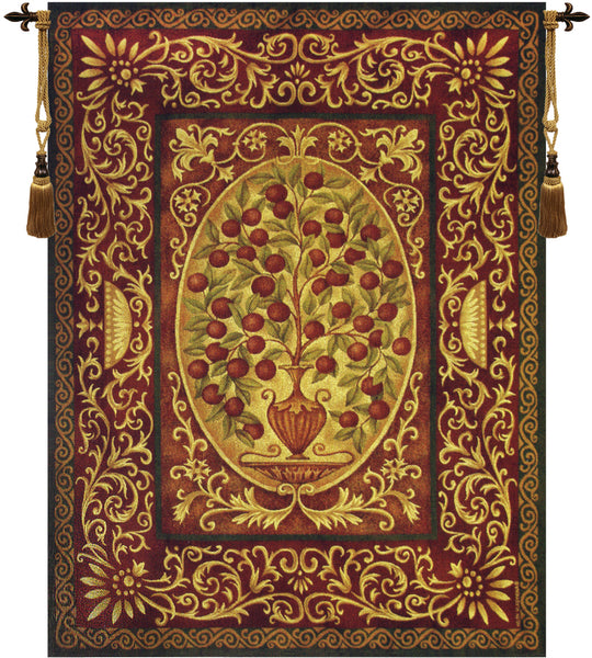 Abundance -  Apple Tree of Life Tapestry Wall Art