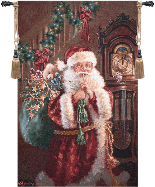 Santa Not a Creature Tapestry Wall Hanging