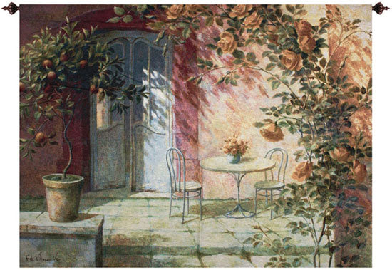Patio Entrance Fine Art Tapestry