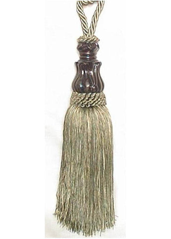 Elegance Sage Tapestry  Decorative Tassels