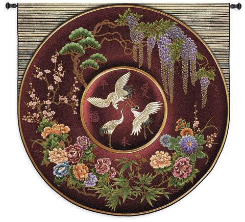 Cloisonne Ruby Tapestry Wall Hanging