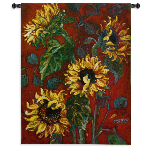 Sunflower I Tapestry Wall Hanging
