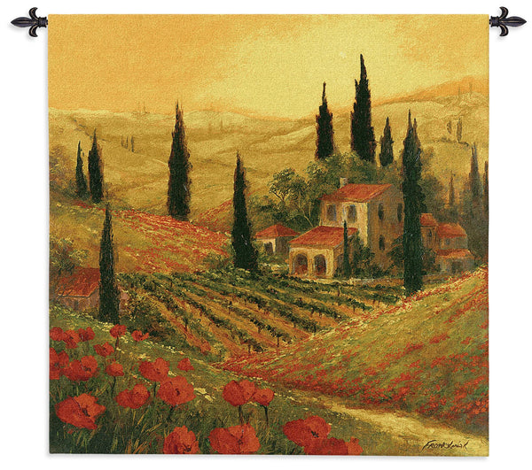 Poppies of Toscano Tapestry Wall Hanging