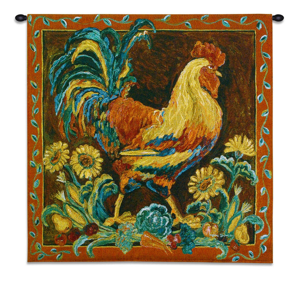 Rooster Rustic Tapestry Wall Hanging