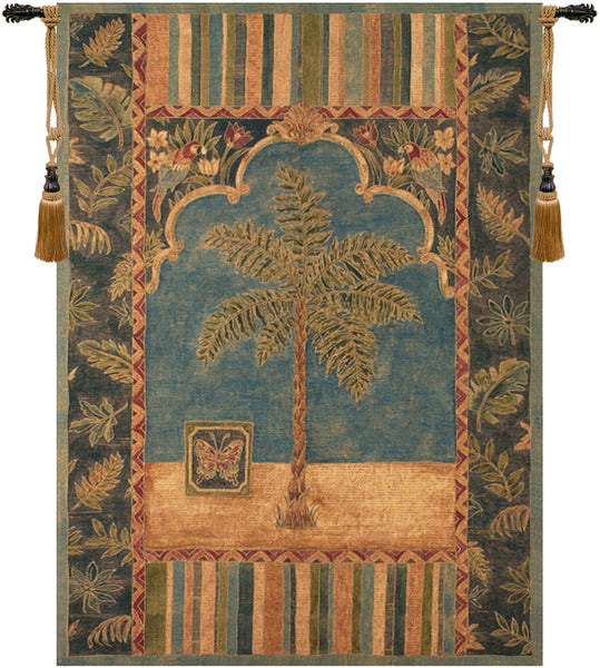 Brocade Palm Tapestry Wall Hanging