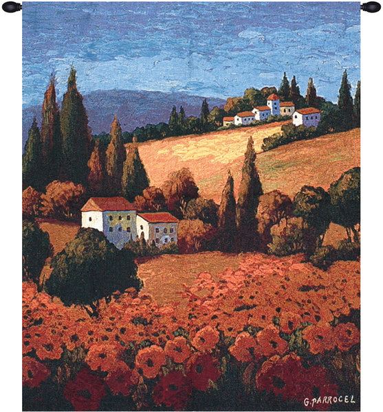 Tuscan Poppies Tapestry Wall Hanging