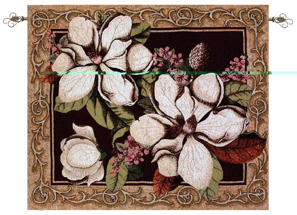 Magnolias in Bloom Tapestry Wall Hanging