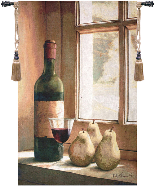 Wine and Pears Fine Art Tapestry