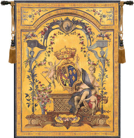 Dame Au Blason French Tapestry