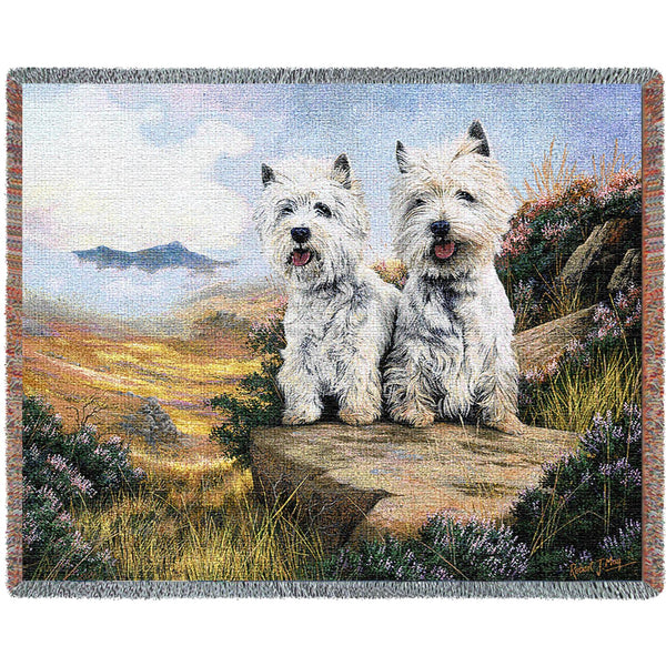 West Highland Terriers (Dogs) Tapestry Throw