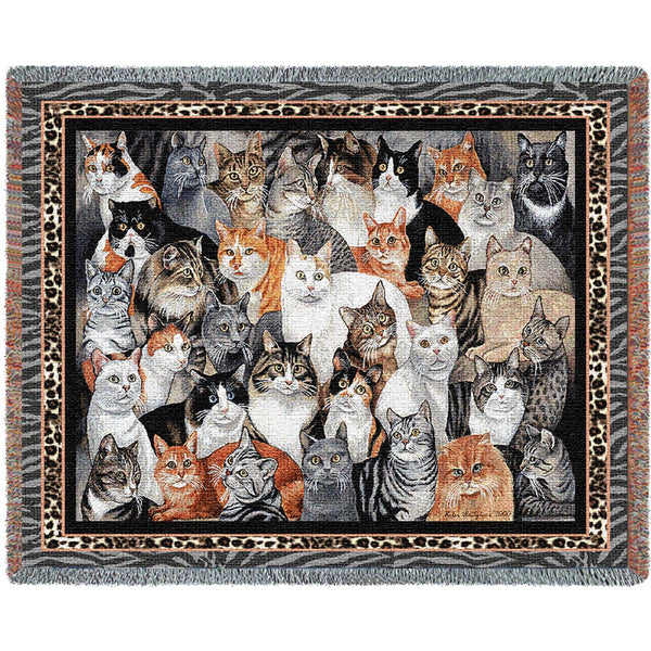 Purrfect Cats (Cats) Tapestry Throw