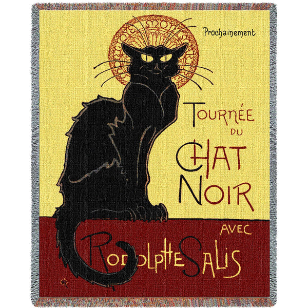 Tournee Chat Noir Tapestry Throw