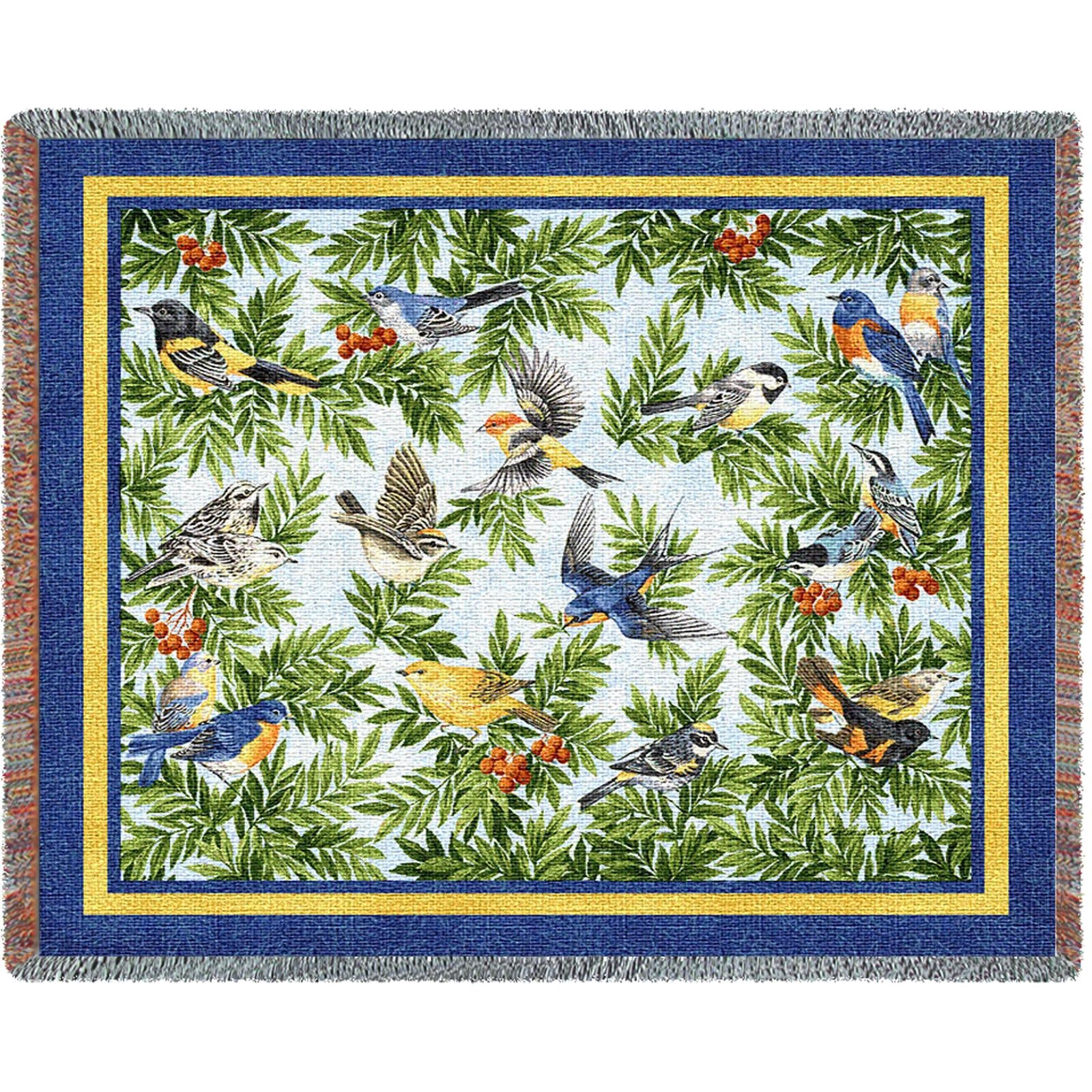 Songbirds (Birds) Tapestry Throw