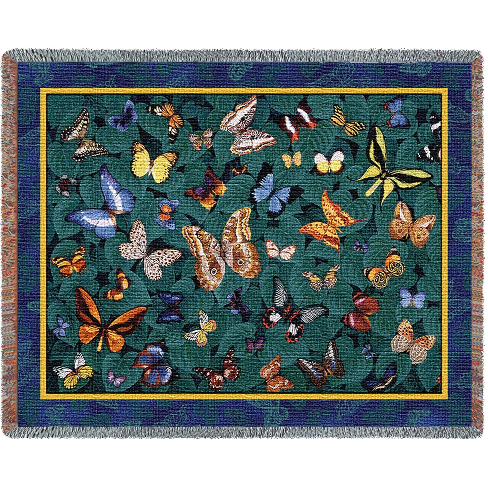 Butterfly Dance (Nature) Tapestry Throw