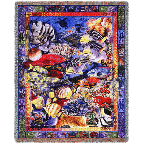 Undersea Paradise (Nature) Tapestry Throw