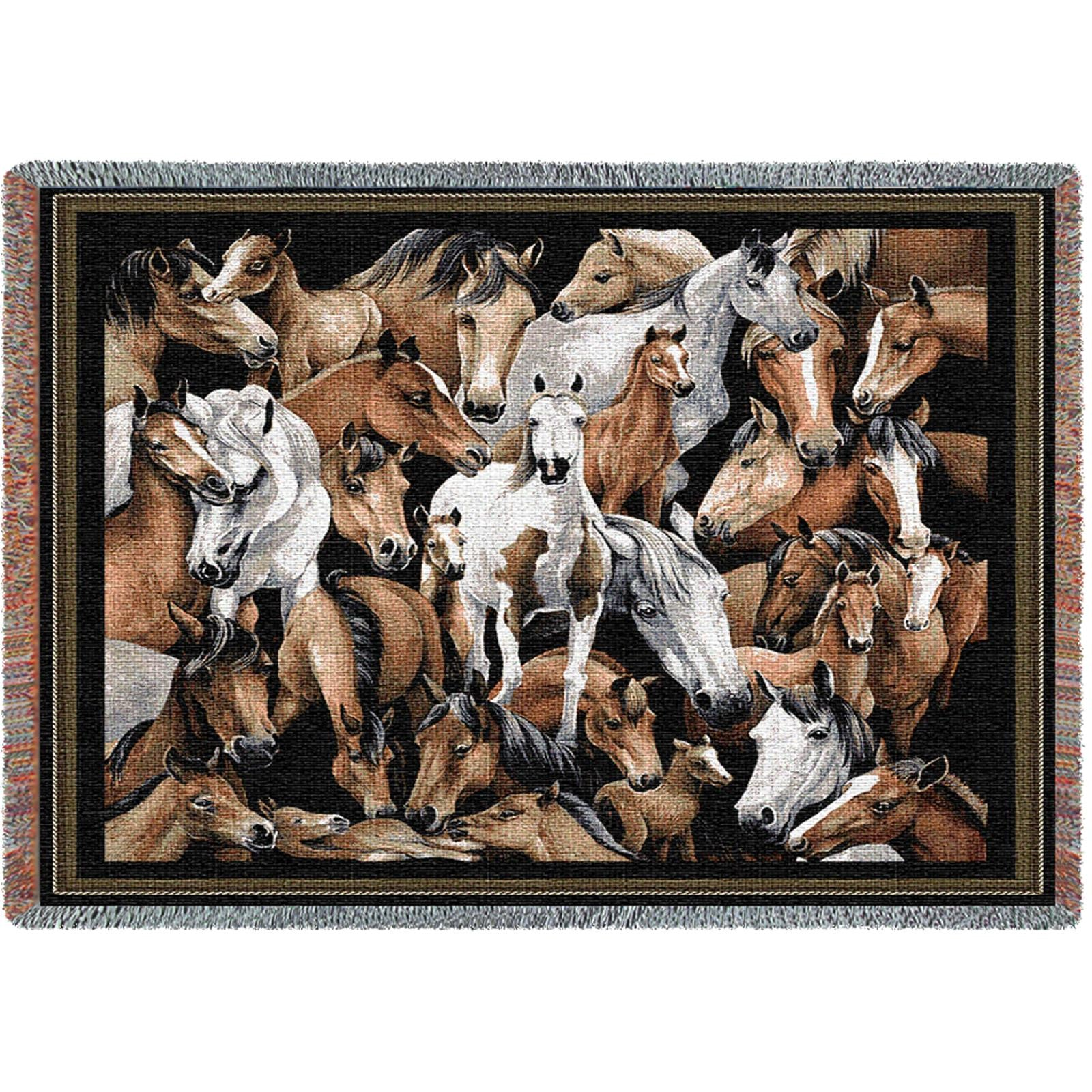 Stampede (Equestrian) Tapestry Throw
