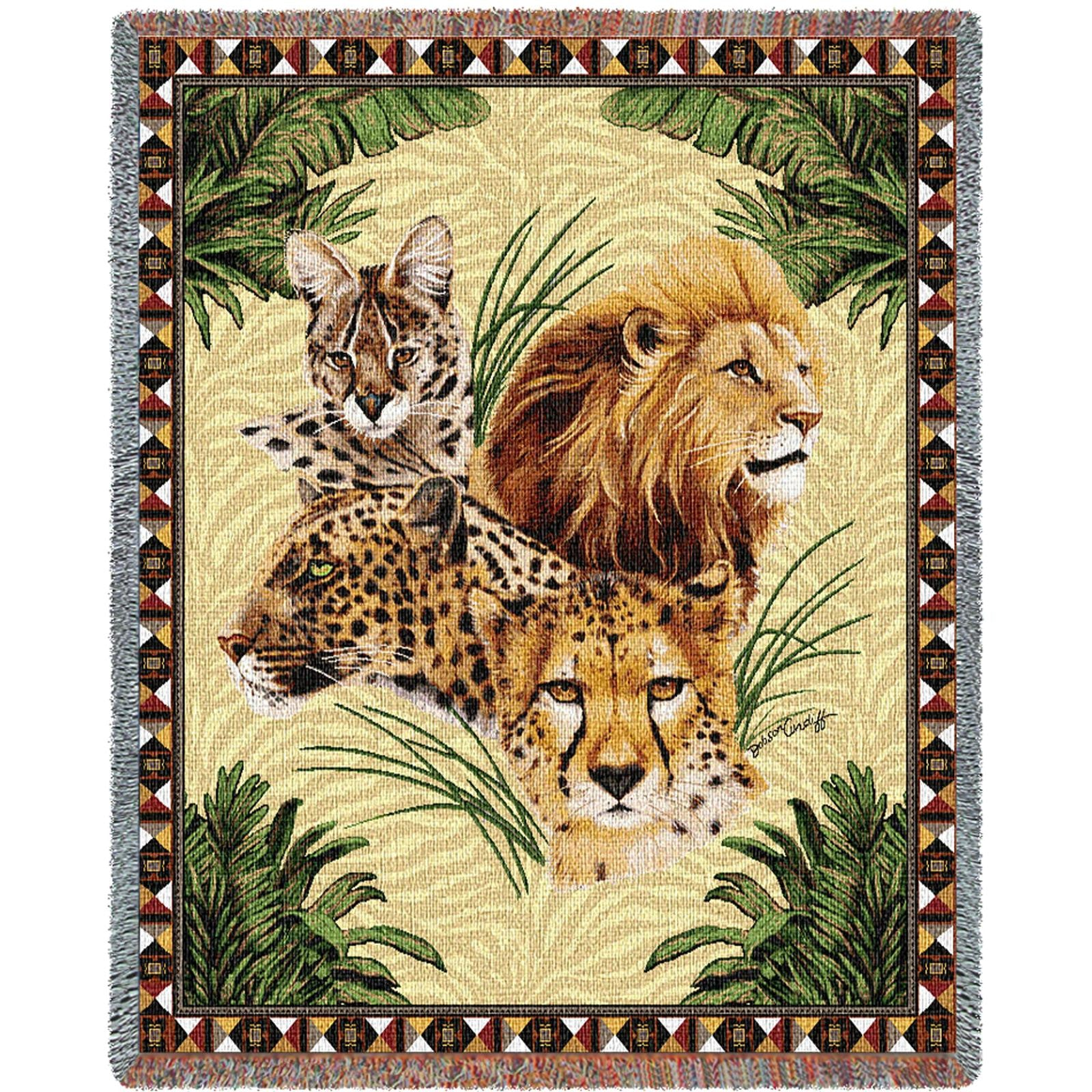 Big Cats (Tropical) Tapestry Throw