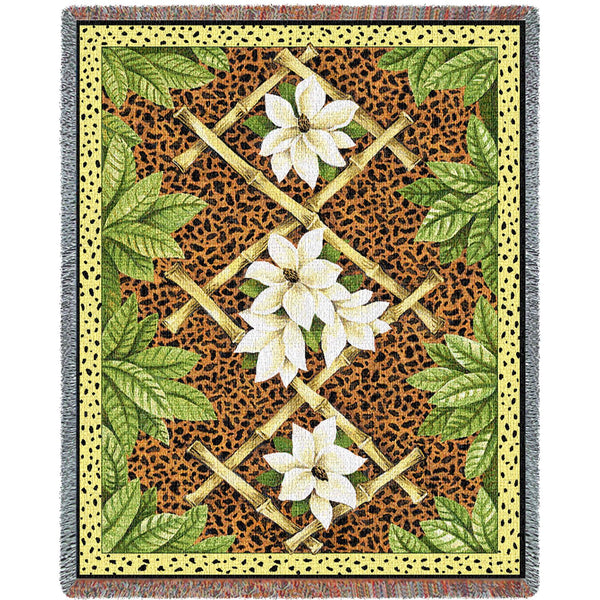 Bamboo & Skin (Tropical) Tapestry Throw