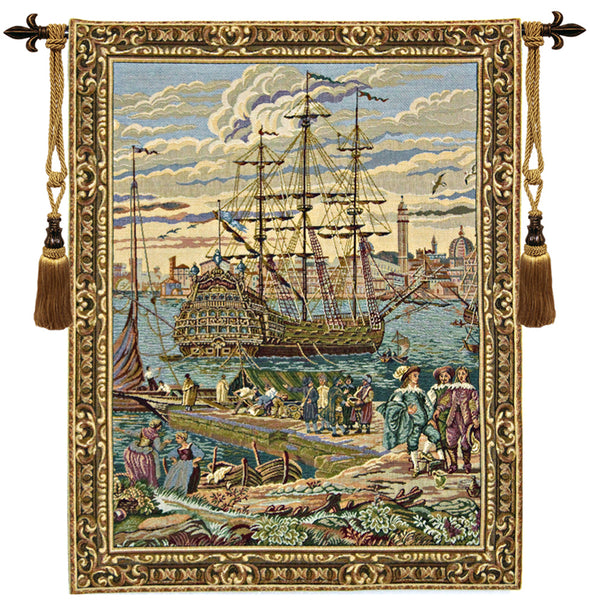 The Galleon Guardi Italian Tapestry Wallhanging