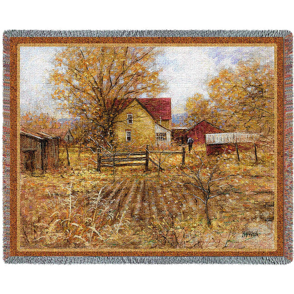 The Homestead (Americana) Tapestry Throw
