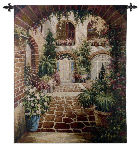 Courtyard Vista Tapestry Wall Hanging