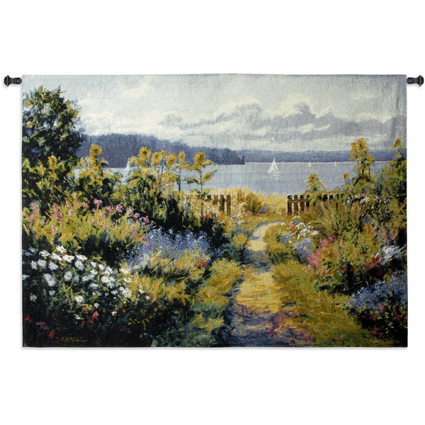 Garden View Tapestry Wall Hanging