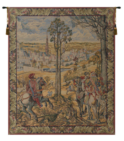 Old Brussels Flanders Vertical Belgian Tapestry Wall Hanging