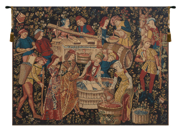 Grapes Harvest Vendanges Belgian Tapestry Wall Hanging