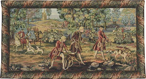 Louis XV Hunting 01 Tapestry Wall Hanging